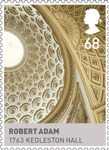 Kings & Queens, House of Hannover 68p Stamp (2011) Robert Adam – 1763 Kedleston Hall