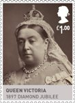 Kings & Queens, House of Hannover �1.00 Stamp (2011) Queen Victoria 1897 Diamond Jubilee