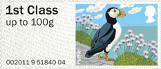 Pictorial Post & Go - Birds of Britain IV 1st Stamp (2011) Puffin
