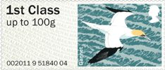 Post & Go - Birds of Britain IV 1st Stamp (2011) Gannet