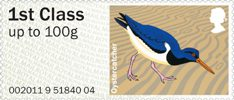 Pictorial Post & Go - Birds of Britain IV 1st Stamp (2011) Oystercatcher