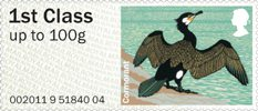 Pictorial Post & Go - Birds of Britain IV 1st Stamp (2011) Cormorant