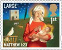 Christmas 1st Large Stamp (2011) Madonna and Child