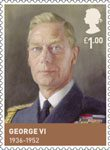The House of Windsor £1.00 Stamp (2012) George VI (1936-1952)