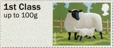 Post & Go - British Farm Animals I - Sheep 1st Stamp (2012) Suffolk