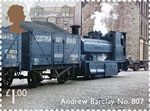 Classic Locomotives of Scotland £1 Stamp (2012) Andrew Barclay No. 807