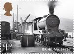 Classic Locomotives of Scotland £1.10 Stamp (2012) BR 4P No. 54767