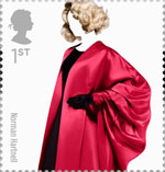 Great British Fashion 1st Stamp (2012) Norman Hartnell