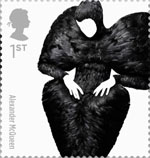 Great British Fashion 1st Stamp (2012) Alexander McQueen