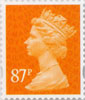 Definitive - Tariff 2012 87p Stamp (2012) Orange