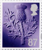 Country Definitive - Tariff 2012 87p Stamp (2012) Thistle