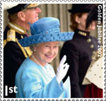 HM The Queen's Diamond Jubilee 1st Stamp (2012) Golden Jubilee 2002