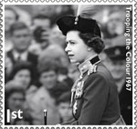 HM The Queen's Diamond Jubilee 1st Stamp (2012) Trooping The Colour 1967