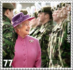HM The Queen's Diamond Jubilee 77p Stamp (2012) The Royal Welsh 2007