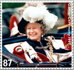 HM The Queen's Diamond Jubilee 87p Stamp (2012) Garter Ceremony 1997