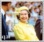 HM The Queen's Diamond Jubilee £1.28 Stamp (2012) Commonwealth Games 1982