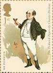 Charles Dickens 1st Stamp (2012) Mr Pickwick