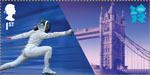 Welcome to the London 2012 Olympic Games 1st Stamp (2012) Fencing - Tower Bridge