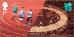 Welcome to the London 2012 Olympic Games 1st Stamp (2012) Athletics - Olympic Stadium