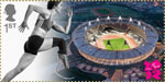 Welcome to the London 2012 Paralympic Games 1st Stamp (2012) Athletics – The Olympic Stadium