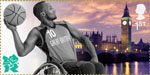 Welcome to the London 2012 Paralympic Games 1st Stamp (2012) Wheelchair Basketball – The Palace of Westminster and Big Ben