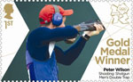 Team GB Gold Medal Winners 1st Stamp (2012) Shooting: Shotgun Men's Double Trap - Team GB Gold Medal Winners