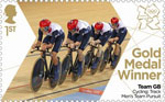 Team GB Gold Medal Winners 1st Stamp (2012) Cycling: Track Men's Team Pursuit - Team GB Gold Medal Winners