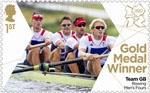 Team GB Gold Medal Winners 1st Stamp (2012) Men's Rowing Four - Team GB Gold Medal Winners