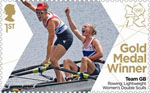 Team GB Gold Medal Winners 1st Stamp (2012) Rowing: Lightweight  Women's Double Sculls - Team GB Gold Medal Winners
