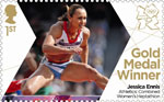 Team GB Gold Medal Winners 1st Stamp (2012) Athletics: Combined Women's Heptahalon - Team GB Gold Medal Winners