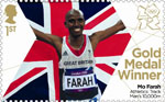 Team GB Gold Medal Winners 1st Stamp (2012) Athletics: Track Men's 10,000m - Team GB Gold Medal Winners
