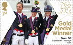 Team GB Gold Medal Winners 1st Stamp (2012) Equestrian: Dressage Team - Team GB Gold Medal Winners