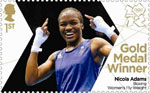 Team GB Gold Medal Winners 1st Stamp (2012) Boxing: Women's Fly Weight - Team GB Gold Medal Winners
