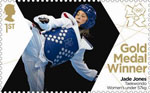 Team GB Gold Medal Winners 1st Stamp (2012) Taekwondo: Women's Under 57kg - Team GB Gold Medal Winners