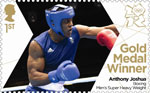 Team GB Gold Medal Winners 1st Stamp (2012) Boxing: Men's Super Heavy Weight - Team GB Gold Medal Winners