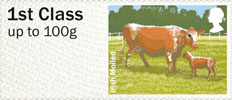 Post & Go - British Farm Animals III - Cattle 1st Stamp (2012) Irish Moiled