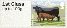 Post & Go - British Farm Animals III - Cattle 1st Stamp (2012) Welsh Black