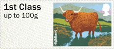 Post & Go - British Farm Animals III - Cattle 1st Stamp (2012) Highland