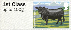 Post & Go - British Farm Animals III - Cattle 1st Stamp (2012) Aberdeen Angus