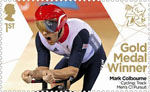 Paralympics Team GB Gold Medal Winners  1st Stamp (2012) Cycling: Track Men's C1 Pursuit - Paralympics Team GB Gold Medal Winners