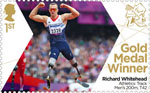 Paralympics Team GB Gold Medal Winners  1st Stamp (2012) Athletics: Track Men's 200m, T42 - Paralympics Team GB Gold Medal Winners