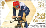Paralympics Team GB Gold Medal Winners  1st Stamp (2012) Cycling: Track - Women's C4-5 500m Time Trial - Paralympics Team GB Gold Medal Winners
