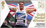 Paralympics Team GB Gold Medal Winners  1st Stamp (2012) Athletics: Field Men's Discus, F42 - Paralympics Team GB Gold Medal Winners