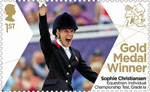 Paralympics Team GB Gold Medal Winners  1st Stamp (2012) Equestrian: Individual Championship Test, Grade 1a - Paralympics Team GB Gold Medal Winners