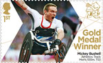 Paralympics Team GB Gold Medal Winners  1st Stamp (2012) Athletics: Track Men's 100m, T53 - Paralympics Team GB Gold Medal Winners