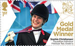 Paralympics Team GB Gold Medal Winners  1st Stamp (2012) Equestrian: Individual Freestyle Test, Grade 1a - Paralympics Team GB Gold Medal Winners