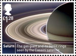 Space Science £1.28 Stamp (2012) Saturn