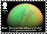 Space Science £1.28 Stamp (2012) Titan