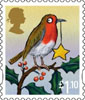 Christmas 2012 £1.10 Stamp (2012) Robin and Star