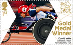 Paralympics Team GB Gold Medal Winners  1st Stamp (2012) Athletics: Track Men's 1500m, T54 - Paralympics Team GB Gold Medal Winners